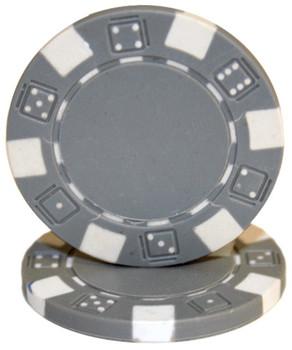 Roll of 25 - Striped Dice 11.5 gram - Gray