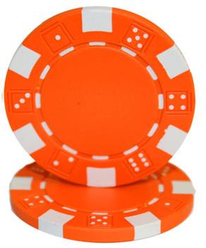 Roll of 25 - Striped Dice 11.5 gram - Orange