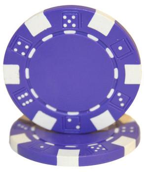 Roll of 25 - Striped Dice 11.5 gram - Purple