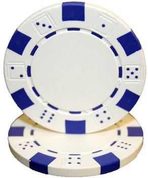 Roll of 25 - Striped Dice 11.5 gram - White
