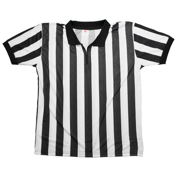 Men's Official Black & White Stripe Referee/Umpire Jersey L