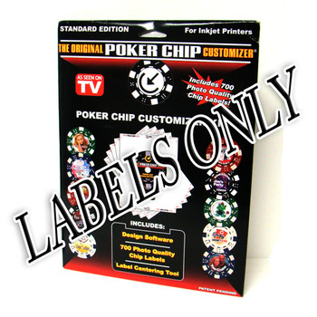 The Original Poker Chip Customizer LABELS ONLY