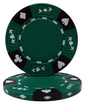 Green - Ace King Suited 14 Gram Poker Chips