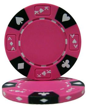 Pink - Ace King Suited 14 Gram Poker Chips