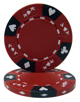 Red - Ace King Suited 14 Gram Poker Chips
