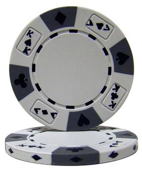 White - Ace King Suited 14 Gram Poker Chips