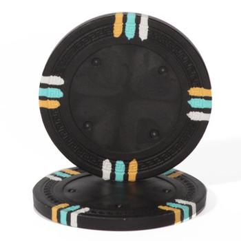 Black Blank Claysmith 12 Stripe Poker Chip - 13.5 grams