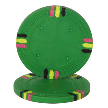 Green Blank Claysmith 12 Stripe Poker Chip - 13.5grams