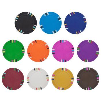 Orange Blank Claysmith 12 Stripe Poker Chip - 13.5 grams