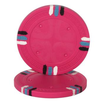 Pink Blank Claysmith 12 Stripe Poker Chip - 13.5grams