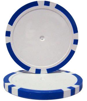 Blue Blank Poker Chips - 14 Gram