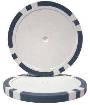 Gray Blank Poker Chips - 14 Gram