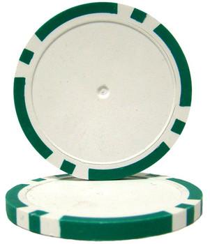 Green Blank Poker Chips - 14 Gram