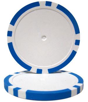 Light Blue Blank Poker Chips - 14 Gram