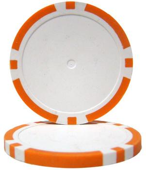 Orange Blank Poker Chips - 14 Gram