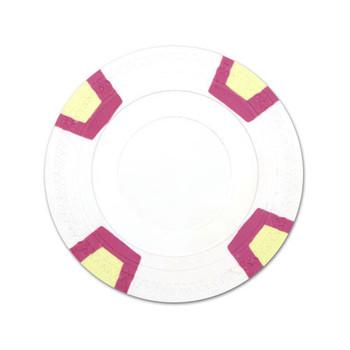 White Blank Claysmith Double Trapezoid Poker Chip - 10g