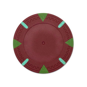 Red Blank Claysmith Triangle and Stick Poker Chip - 13.5