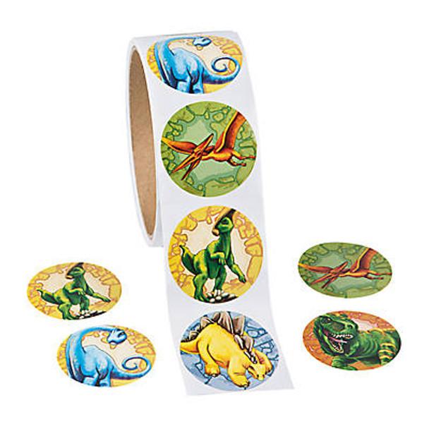 Dinosaur Roll Stickers 100