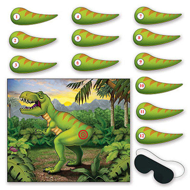 Pin the Tail on the Dinosaur Party Game