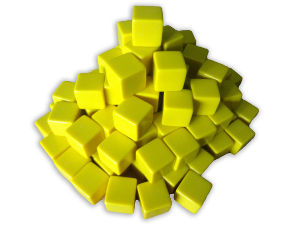 16mm Blank Yellow Dice