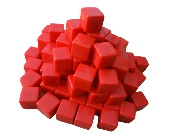 16mm Blank Red Dice