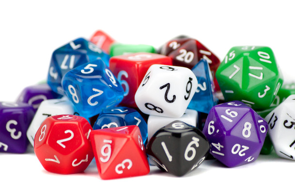 100+ Pack of Random Polyhedral Dice w/ Free Pouch