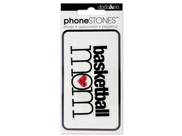 Basketball Mom Phone Stones Sticker (pack of 24)