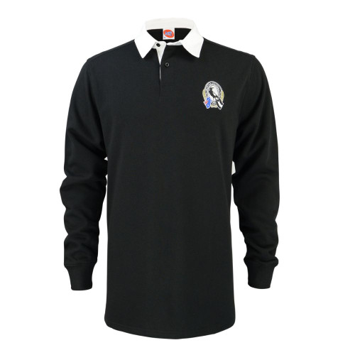 Collingwood Mens Supporter Rugby Top