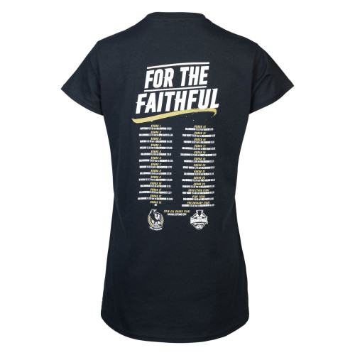 Collingwood 2018 Womens Road to Glory Tee