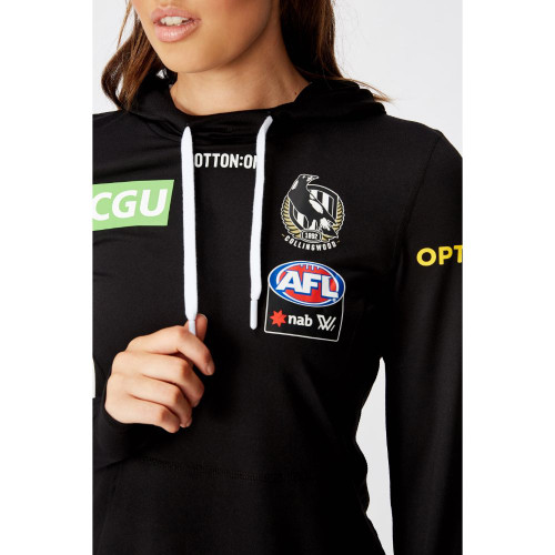 Collingwood AFLW 2020 Womens LS Performance Hoody