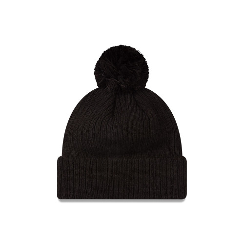 Collingwood New Era Black on Black Cuff Knit Beanie