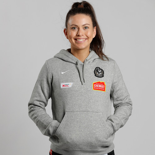 Collingwood Nike 2020 Netball Kids Grey Hoody