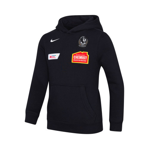 Collingwood Nike 2020 Netball Kids Black Hoody