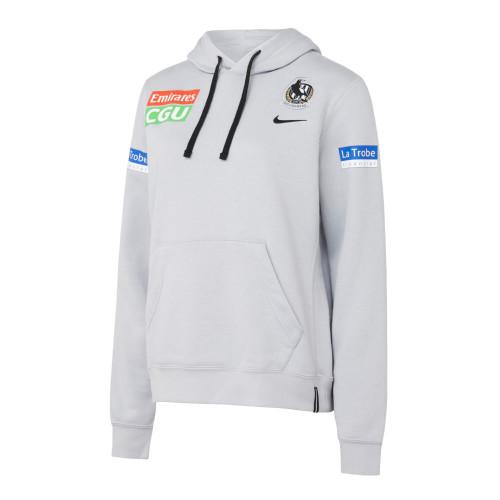 Collingwood Nike 2021 Womens Players Hoodie Wolf Grey