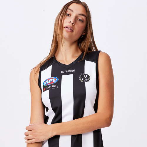 Collingwood AFLW 2021 Womens Home Guernsey