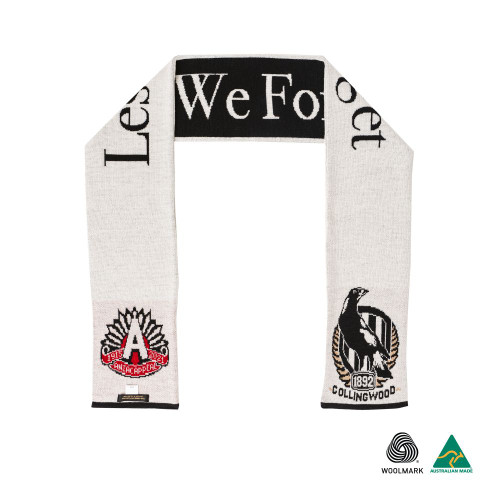 Collingwood 2021 ANZAC Merino Wool Scarf - Australian Made
