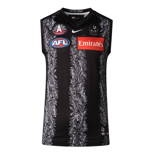 Collingwood Nike 2021 Womens ANZAC Guernsey