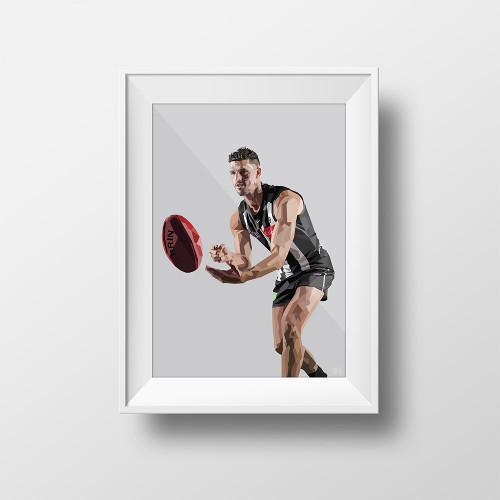 Collingwood x DG Designs Scott Pendlebury Non-Framed