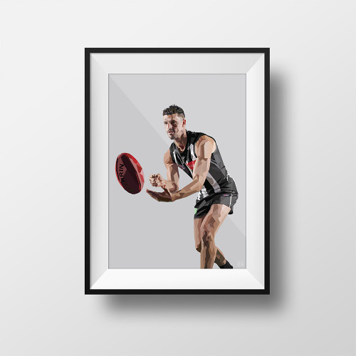 Collingwood x DG Designs Scott Pendlebury Framed