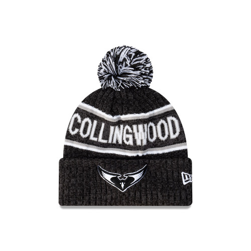 Collingwood New Era Swooping Magpies Script Beanie