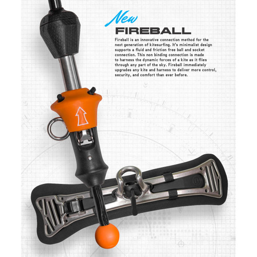 Fireball Spreader Bar with Fireball Control Bar (attachment end with QR).