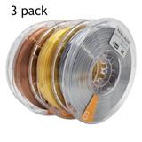 PLA Silk - 3 Pack - Metal Colours  - 3D Printer Filament
