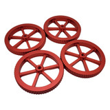 Creality Red Large Aluminum Bed Leveling Nut (4 Pack) - 3D Printer Spare Parts