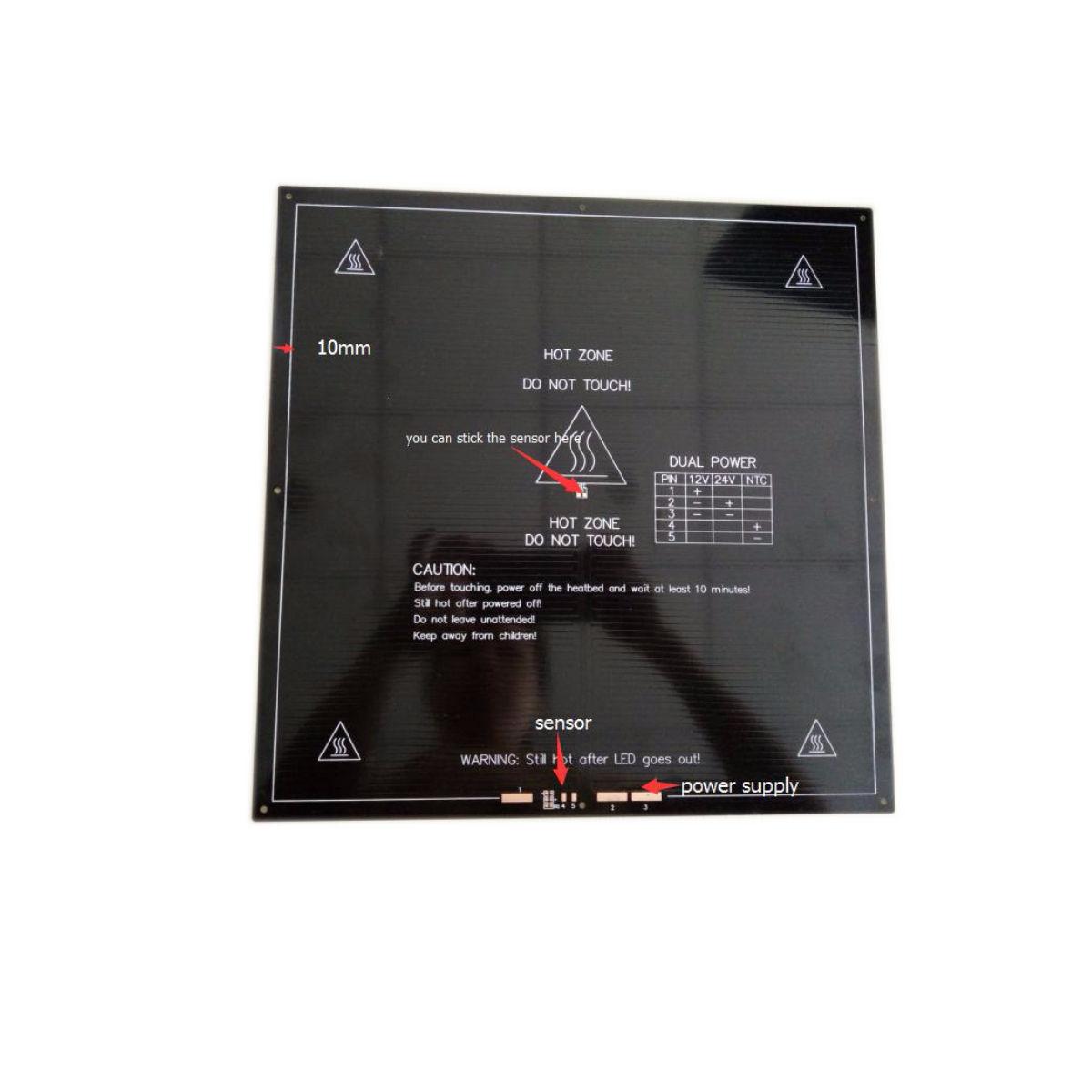 300mm x 300mm x 3mm Aluminum Heat Bed 3D Printing Canada