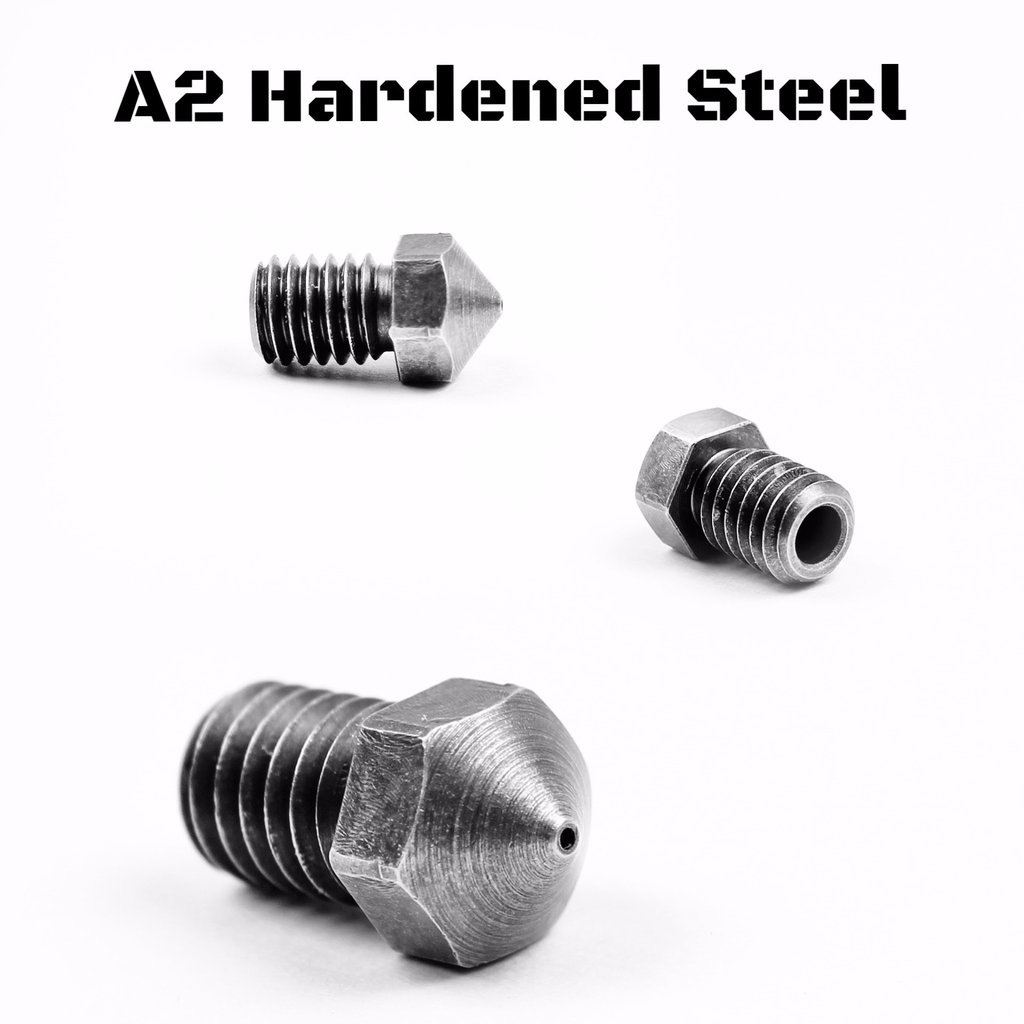 Micro Swiss 3mm M6 Reprap Nozzle A2 Hardened Steel - 3D Printing Canada