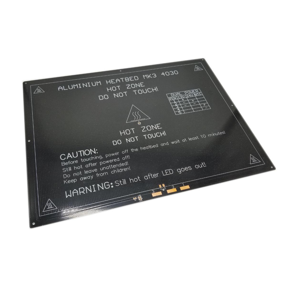 400mm x 300mm x 3mm Aluminum Heat Bed 3D Printer Spare Parts