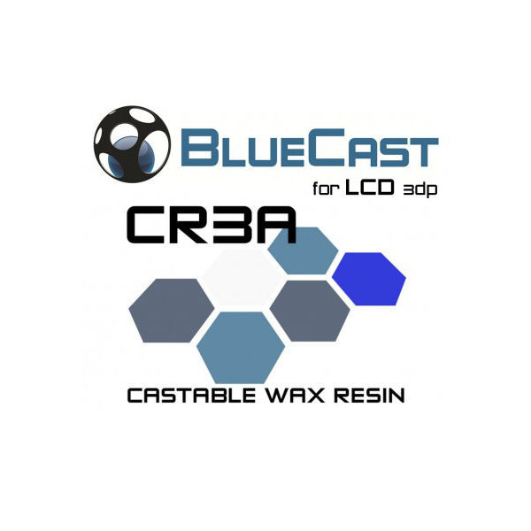 BlueCast Cr3a Castable Wax 3D Printer Resin - 3D Printing Canada