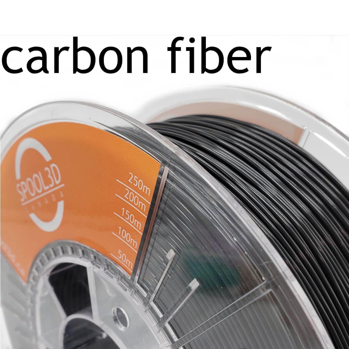 Black Carbon Fibre PETG Filament - 1.75mm 3D Printer Filament