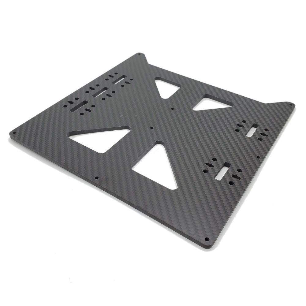 220mm x 220mm x 4mm Carbon Fiber Heat Bed Plate Upgrade-  3D Printing Canada