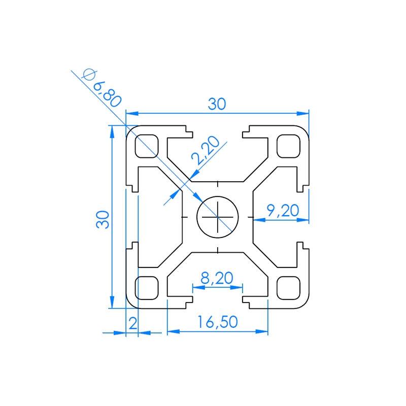 3030 Aluminum Extrusion 3D printing Canada